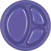 "10.25"" Divided Plate 20 CT Purple"