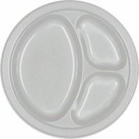 "10.25"" Divided Plate 20 CT Silver"