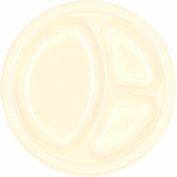 "10.25"" Divided Plate 20 CT Vanilla Creme"