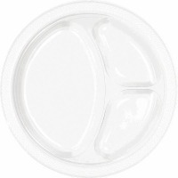 "10.25"" Divided Plate 20 CT White"