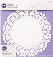 "10"" Doilies White 10 CT"
