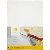 "Wilton 10"" X 14"" Quarter Sheet Cake Board - 6 Pack"