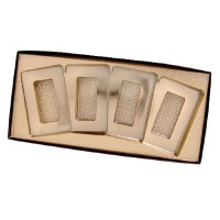 "10""X4"" 4-Card Box Clear Lid"