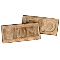"10""X4"" MOM Brown Box Clear Lid"