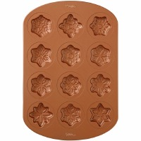 12 Cav Snowflake Copper Pan