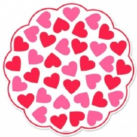 "12"" Valentines Doilies 18 CT"