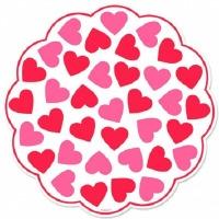 "12"" Valentines Doilies 18 CT"