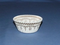 "13/16""X1-3/8"" Round White and Gold Baking Cups 500 Count"
