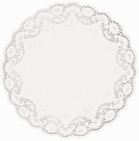 "16.5"" White Doilies Round 4 CT"