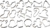 18-PC Holiday Cookie Cutters