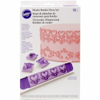 19-PC Border Press Set Hearts