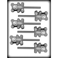 "2.25"" Teddy Bear Lolly Mold (6)"