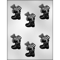 "2-3/8"" Bear in Boot Choc Mold"