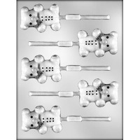 "2 3/8""Teddy Bear Lolly Mold(5)"
