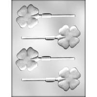 "2"" 4-Leaf Clover Lolly  (4)"