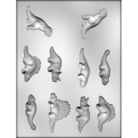 """2.5"""" - 2.75"""" Dinosaurs Candy Mold 10"""