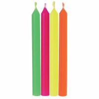 "2.5"" Candles Neon 24 CT"