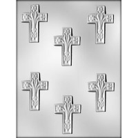"2.5""Cross w/ Lillies (6)"