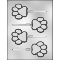 "2.5"" Paw Print Lolly Mold (4)"