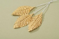 "2.5""  Rose Leaf - Gold  12 CT"