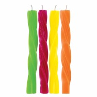 "2.5"" Twist Candles Hot 8 CT"