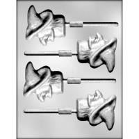 "2.5"" Witch Head Lolly Mold (4)"