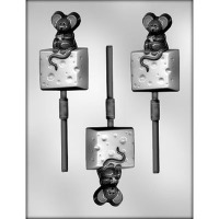 "2-7/8"" Elephant Lolly (3) Candy Mold"