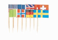 "2.75"" Internationa Flags 50 CT"