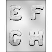 "2.75"" Letters E,F,G,H Mold (4)"