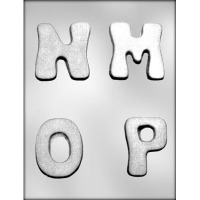 """2.75"""" Letters M,N,O,P Mold (4)"""