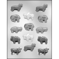 "2"" Assorted Animals Candy Mold (14)"