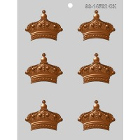 "2½"" Crown Chocolate Mold (6)"
