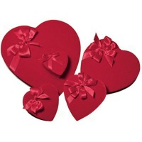 2# Heart Box 1 Layer Velvet