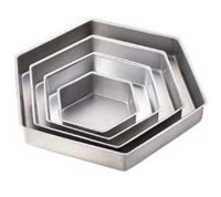 "2"" Hexagon Pan Set 6/9/12/15"