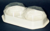 2-PC Candy Box Clear & White