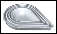 "2"" Tear Drop Pan Set 8/10/12/14"