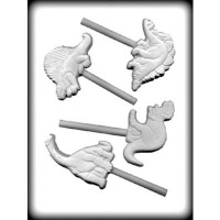 "3-1/2"" Dinosaur Mold Hard Candy Mold (4)"