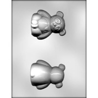 "3.25"" 3D Panda w/ Heart Candy Mold 2"
