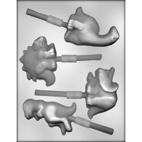 "3.25"" Dinosaur Lolly Candy Mold (4)"