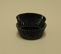 "3/4"" X 1-1/4"" Black Foil Baking Cups 500 Count"