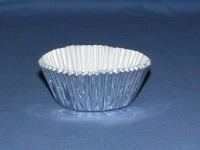"3/4"" X 1-1/4"" Silver Foil Baking Cups 500 Count"