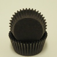 "3/4"" X 1-3/8"" Black Mini Baking Cup 500 Count"