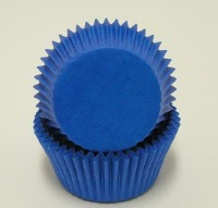 "3/4"" X 1-3/8"" Blue Mini Baking Cup 500 Count"