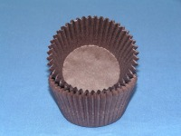 "3/4"" X 1-3/8"" Brown Mini Baking Cup 500 Count"
