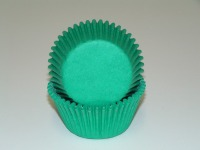 "3/4"" X 1-3/8"" Green Mini Baking Cups 500 Count"