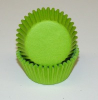"3/4"" X 1-3/8"" Lime Green Mini Baking Cup 500 Count"