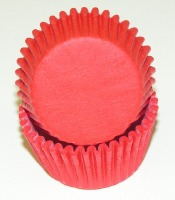 "3/4"" X 1-3/8"" Red Mini Baking Cups 500 Count"