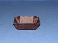 "3/4"" X 2"" Square Gold & Brown Baking Cups 500 Count"