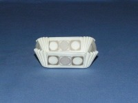 "3/4"" X 2"" Square Gold & White Baking Cups 500 Count"