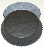 "3/4"" X 3"" Tart Cups Black"